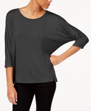 f7098b50f81 EILEEN FISHER STRETCH JERSEY ROUND-NECK TOP, REGULAR & PETITE. #eileenfisher  #cloth #