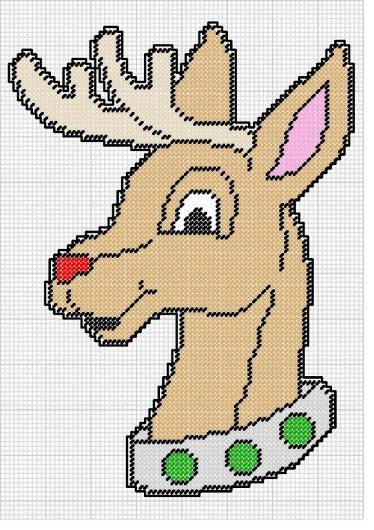 Christmas Plastic Canvas Patterns Rudolph the Red Nosed Reindeer Leisure Arts 3453 Plastic Canvas Pattern Mizfitz