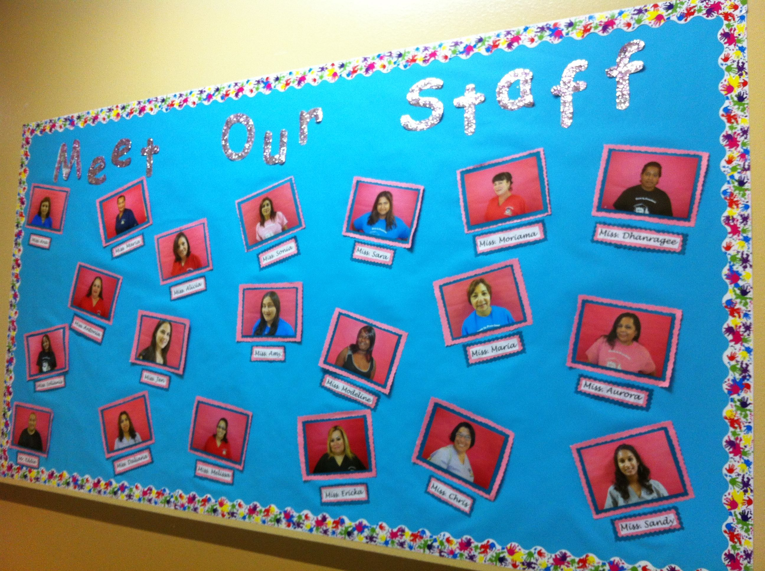 meet our staff bulletin board education pinterest