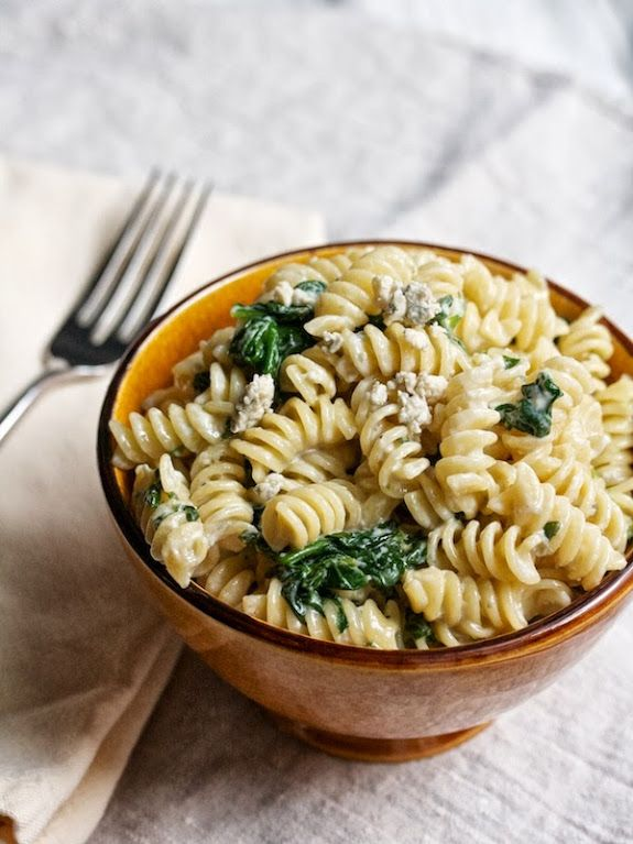 Rotini With Blue Cheese Spinach A Cup Of Jo Food Blue Cheese Recipes