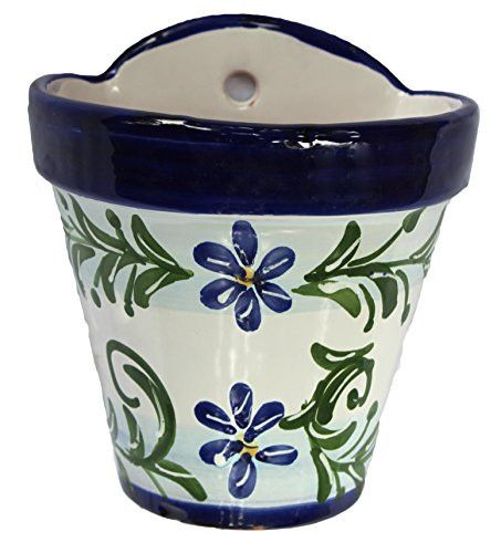 Wall Hanging Flower Pot Spanish Sky Ceramic Wall Flowers Hanging Flower Pots Flower Pots