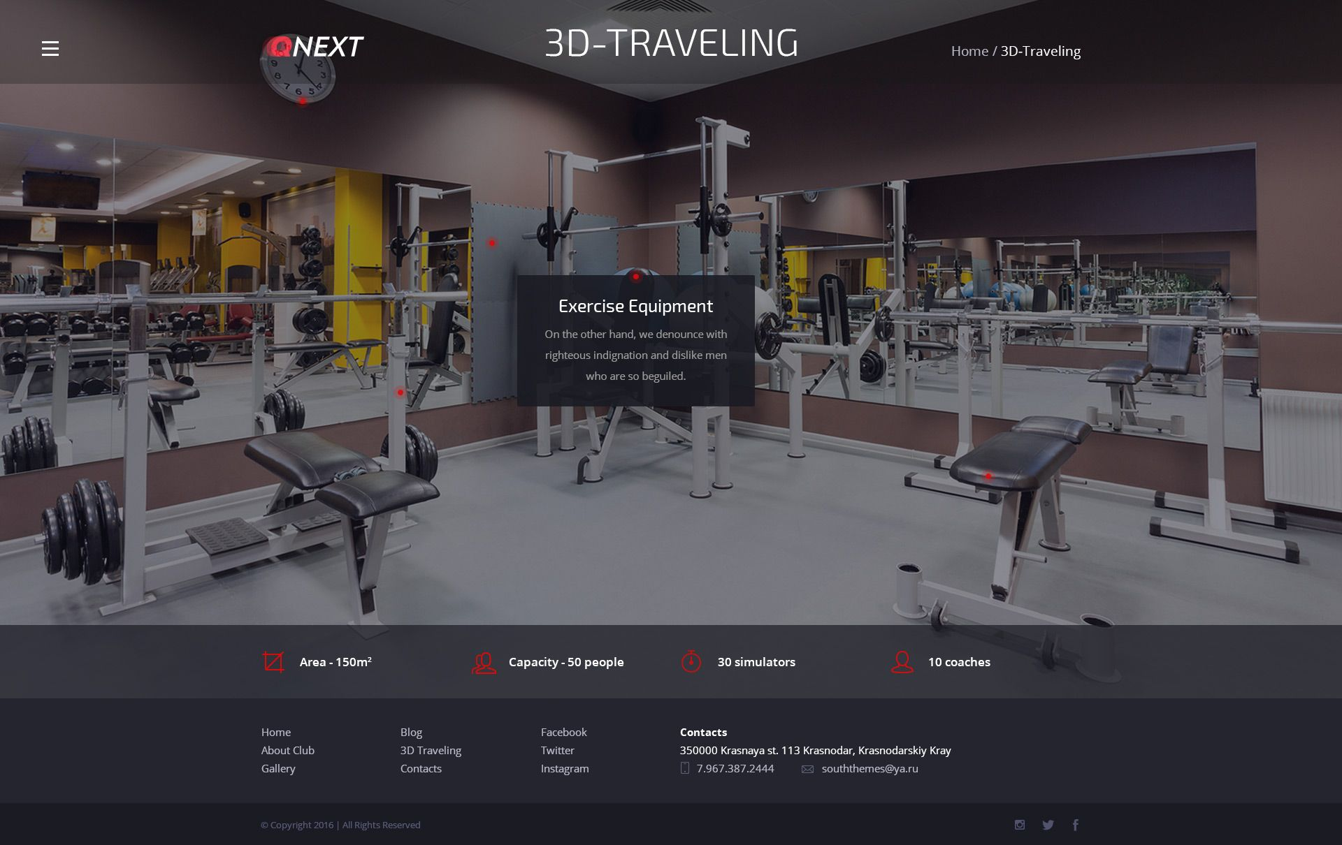 QNext Fitness Template QNext Fitness Template