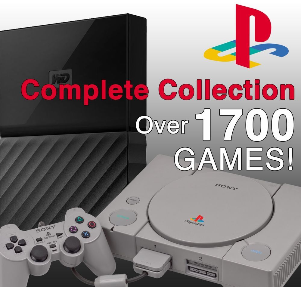 Playstation Ps1 Psx Complete Collection Hard Drive Ps2 Ps3 Psp