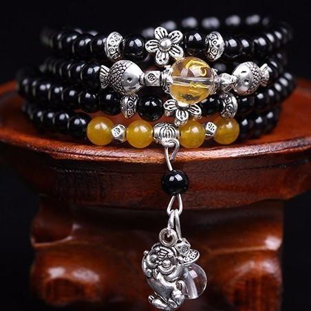Black Carnelian Tibetan Prayer Beads - 108 6mm beads