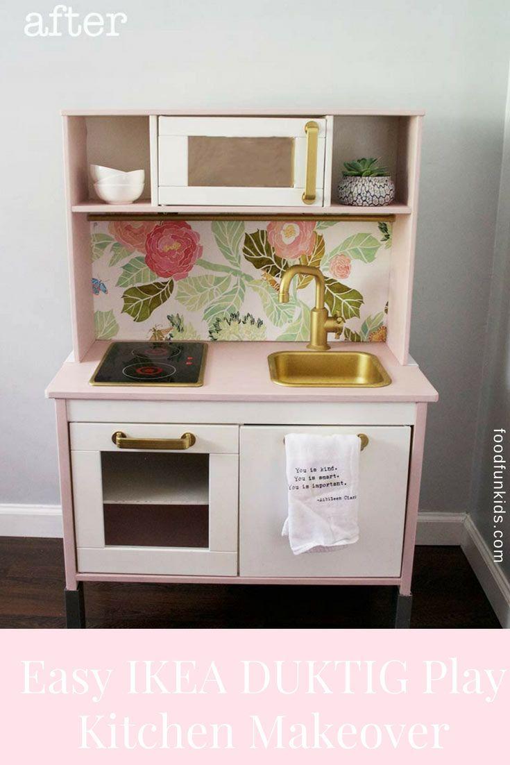 Easy Ikea Duktig Play Kitchen Makeover Personalizar Y Cocinas # Muebles Roles Mesillas