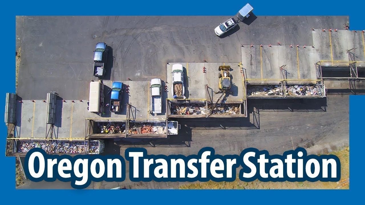 An overview look at a transfer station in Oregon, USA