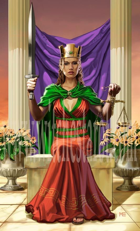 "The Goddess Themis from the ""Justice"" card of the Witches Tarot deck. By Ellen Dugan & Mark Evans www.witchestarot.com"