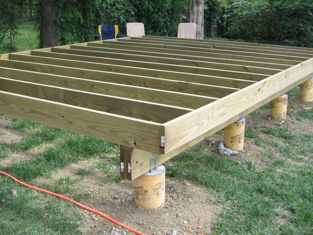Shed backyardshed shedplans floor joist spacing shed for Best builders workshop deck