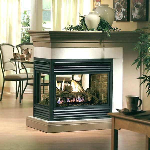 sided electric fireplace multi sided fireplace multi sided