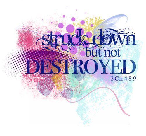 2 Corinthians 4: 8-9