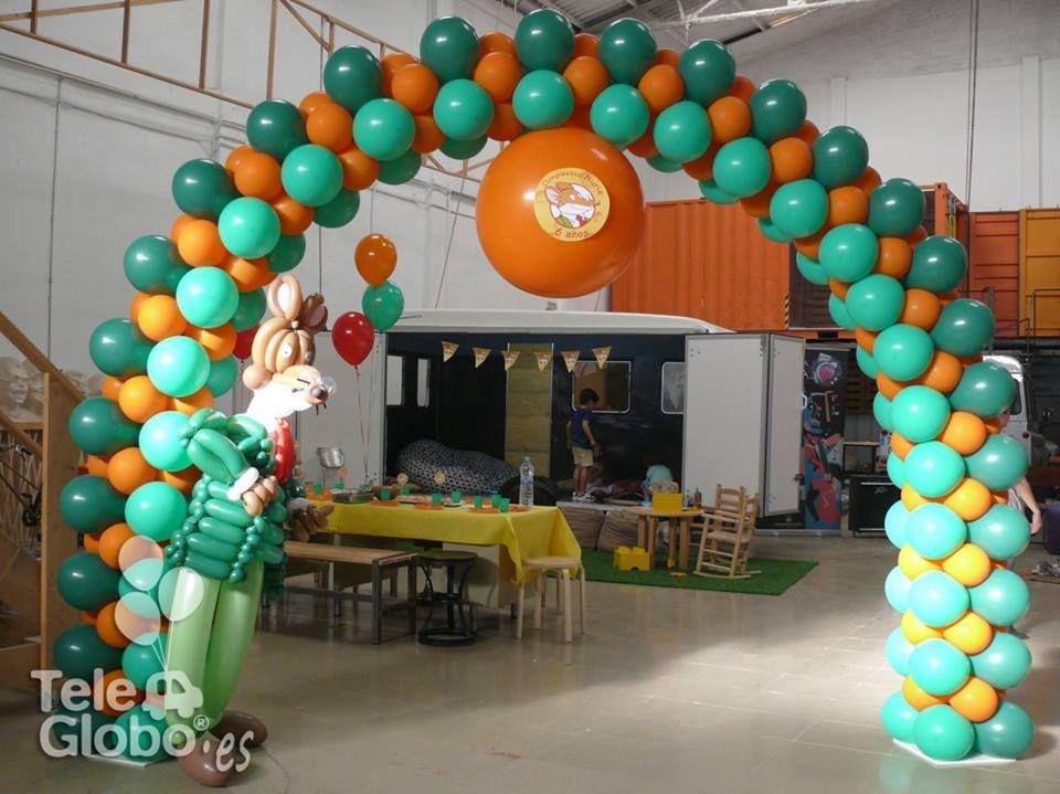 Decoraci n con globos de geronimo stilton para cumplea os - Decoracion con globos para cumpleanos ...
