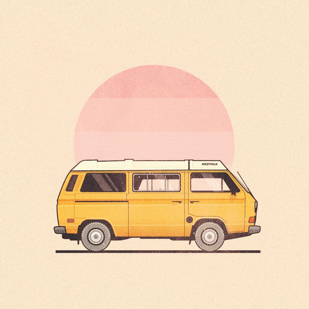 vanagon by dee duncan illustration we admire pinterest vw volkswagen and vw bus. Black Bedroom Furniture Sets. Home Design Ideas
