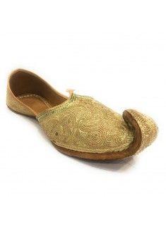 ef1d013e14bf Step n Style Mens Gold khussa Sherwani Shoes Punjabi Juti For Men Ethnic  Mojari SS190