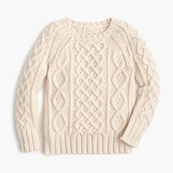 Boys' cable sweater