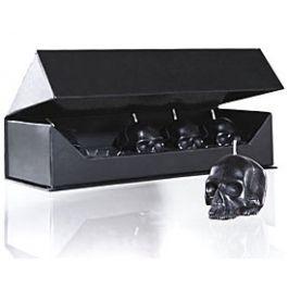 D.L. & Co. Mini Skull Black Candle Gift Set