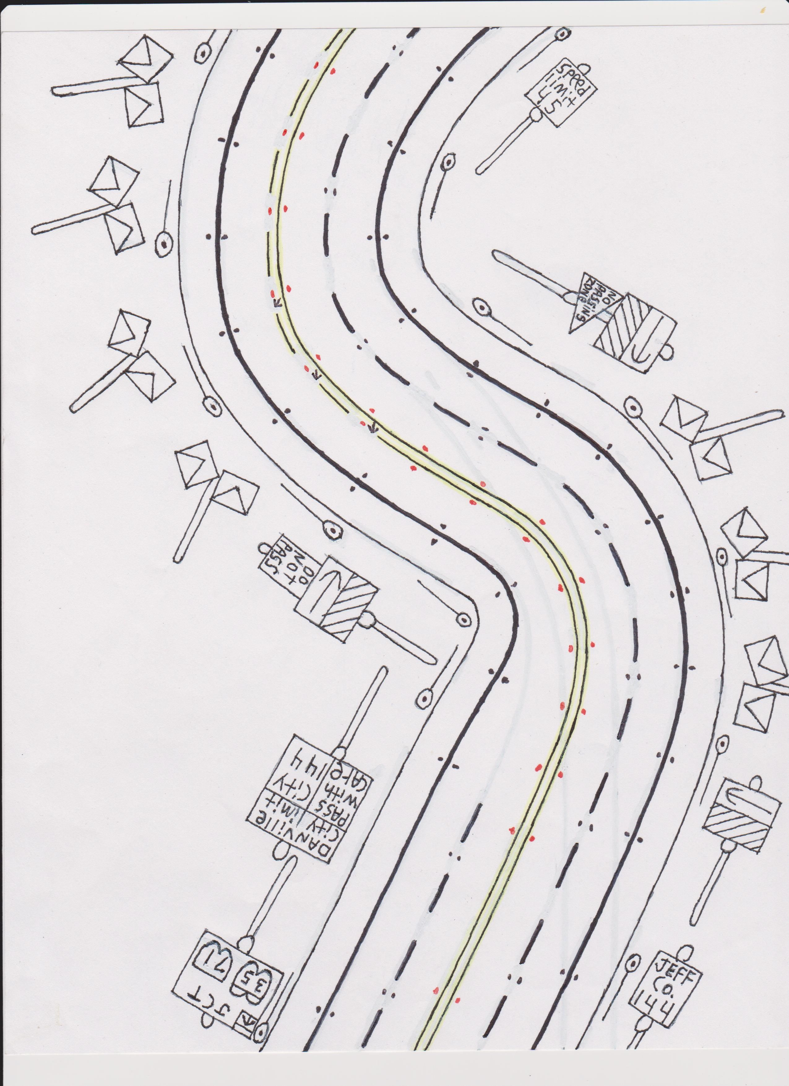 How to draw a road