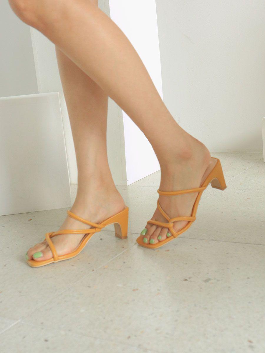 4a5edf74e4e Mid-Heel Slide Sandals