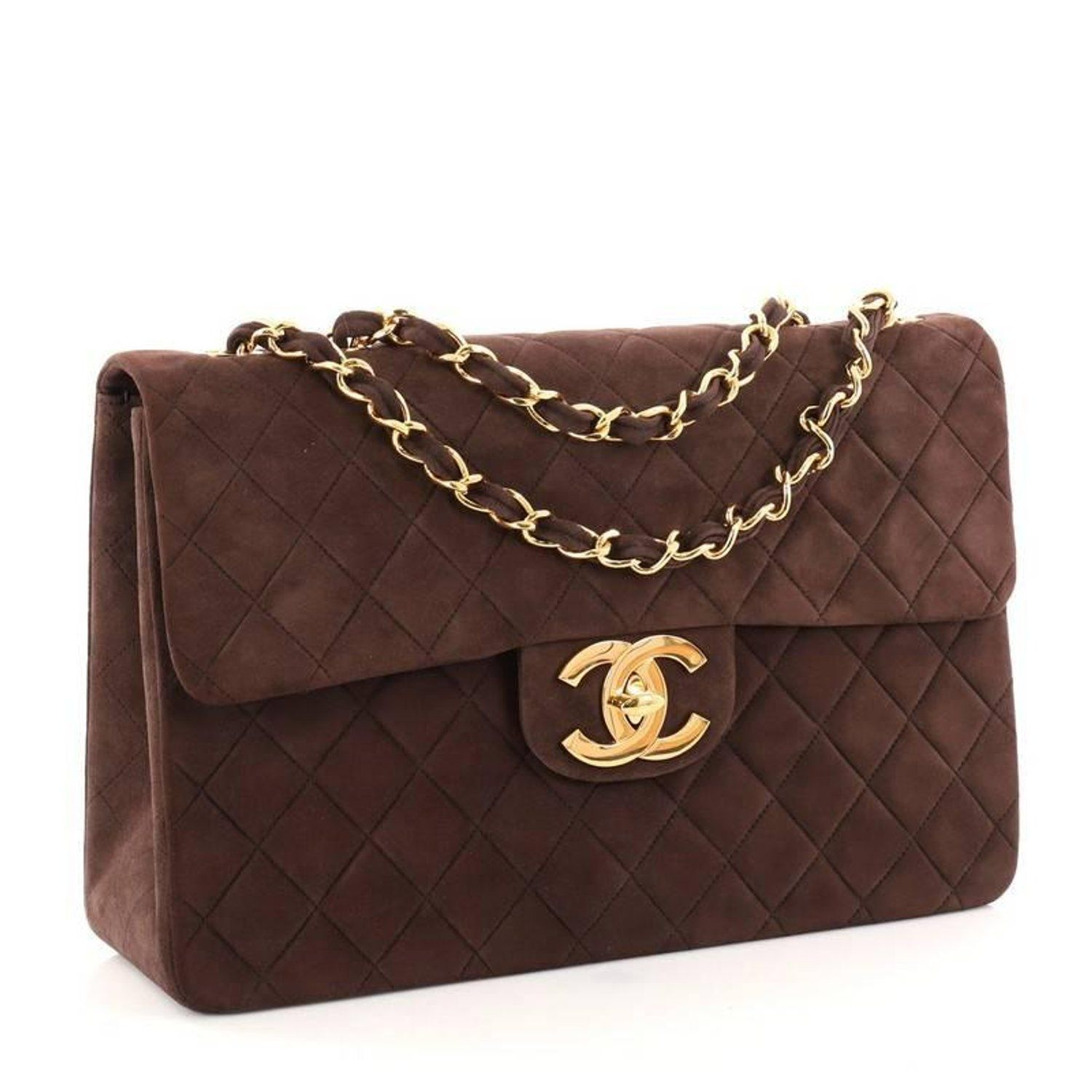 485fe503d4e5ed Chanel Vintage Classic Single Flap Bag Quilted Suede Maxi For Sale at  1stdibs