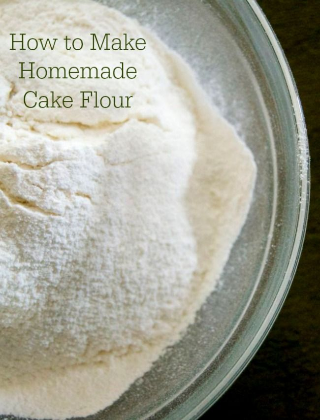 you can make your own cake flour at home a great thing to do
