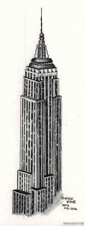 Dibujo Empire State Building Nueva York Dibujos De Edificios Edificio Empire State Ilustracion De Nueva York