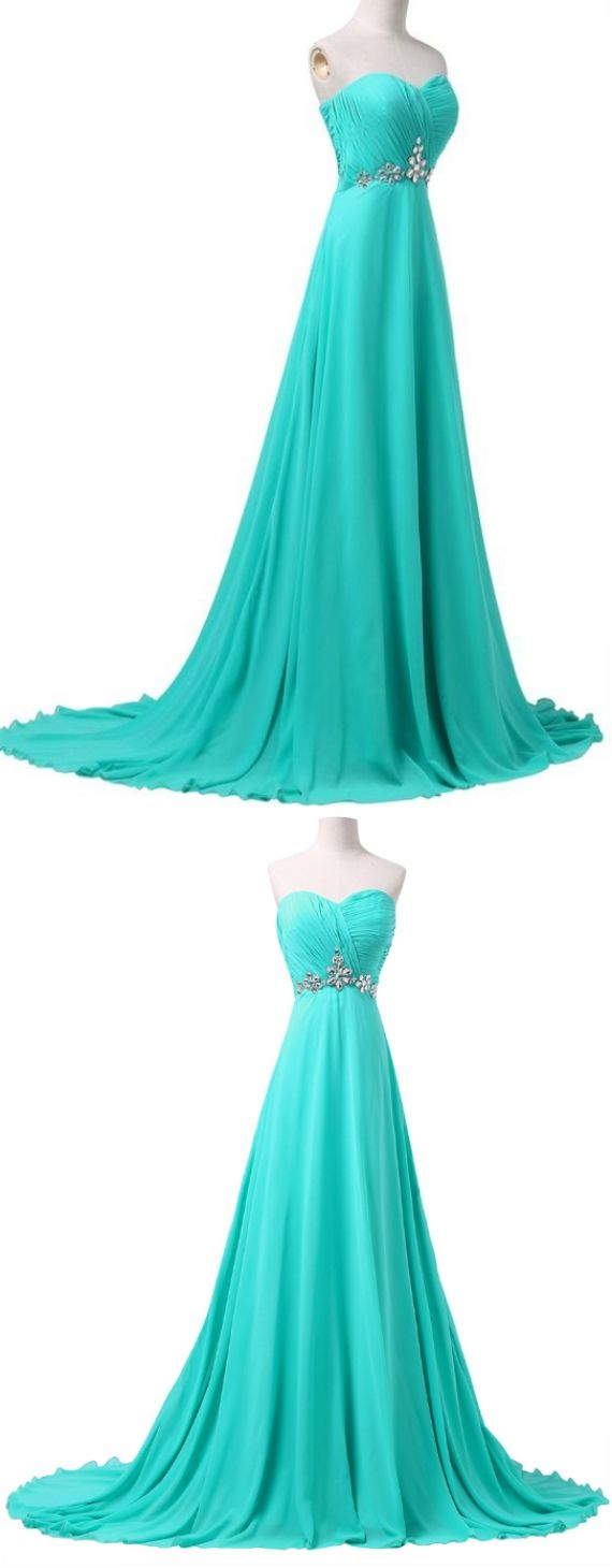 Customized absorbing light blue prom dresses long prom dresses