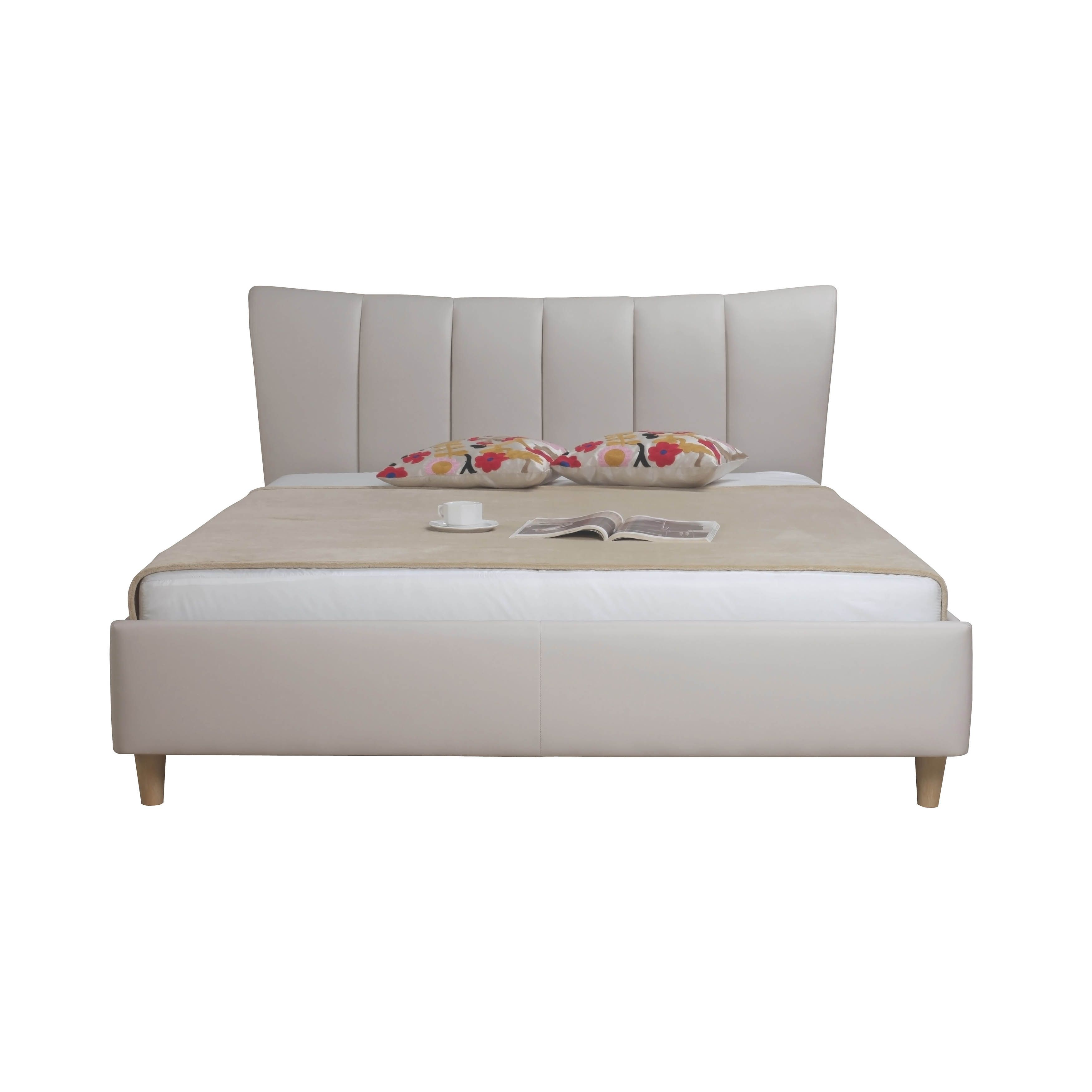 aurelle home kristin queen bed taupe by aurelle home products