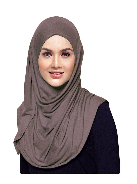Womens Plain Instant Cotton Jersey Lightweight Hijab Scarf Khakhi C81874eq2ch Hijab Scarf Instant Hijab Womens Wrap Scarf