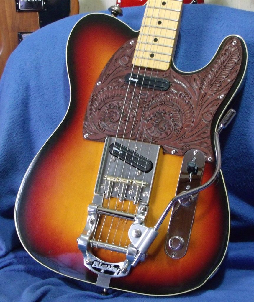 jerry donahue telecaster w bigsby tremolo note the cool leather pickguard awesome. Black Bedroom Furniture Sets. Home Design Ideas