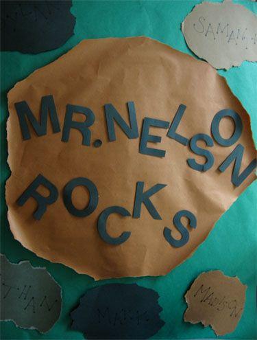 Teacher Door Decoration - rocks