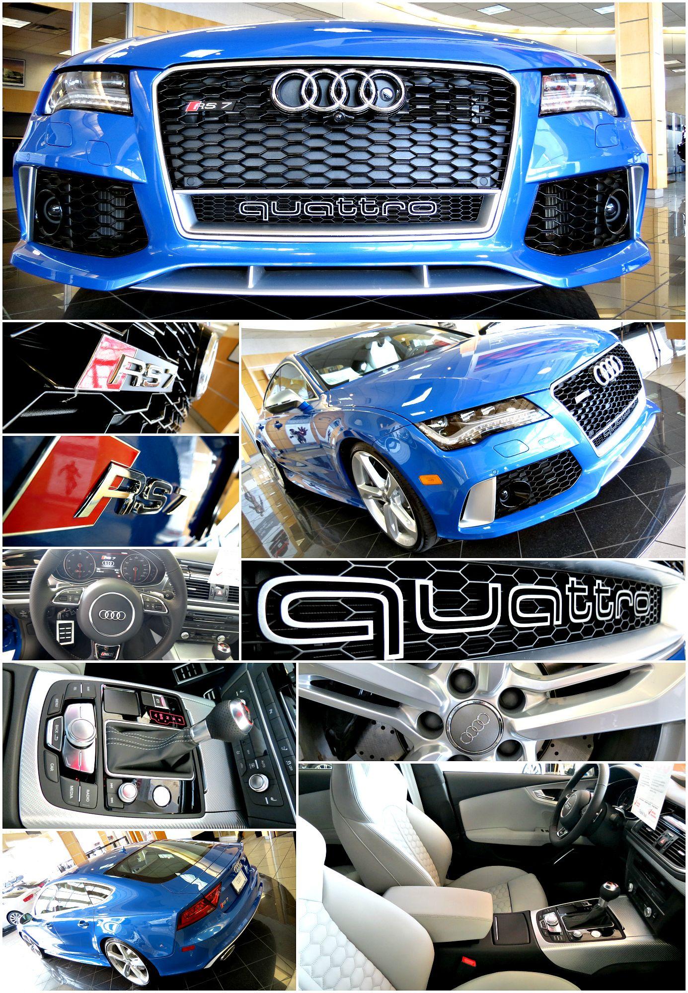 Audi RS7 Audi North Scottsdale SprintBlue Fourrings GermanCars