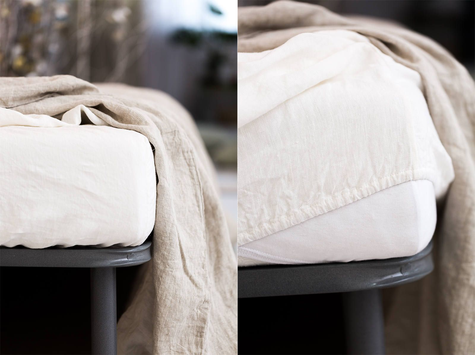 Linen Sheets eco friendly White Linen Bedding Set Queen