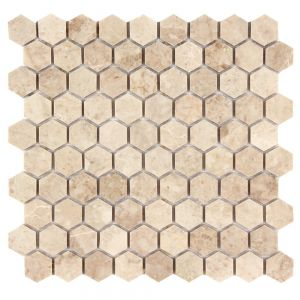 Cappuccino Polished Marble 1 1 4 Inch Honeycomb Mosaic Polished Marble Tiles Mosaic Hexagonal Mosaic