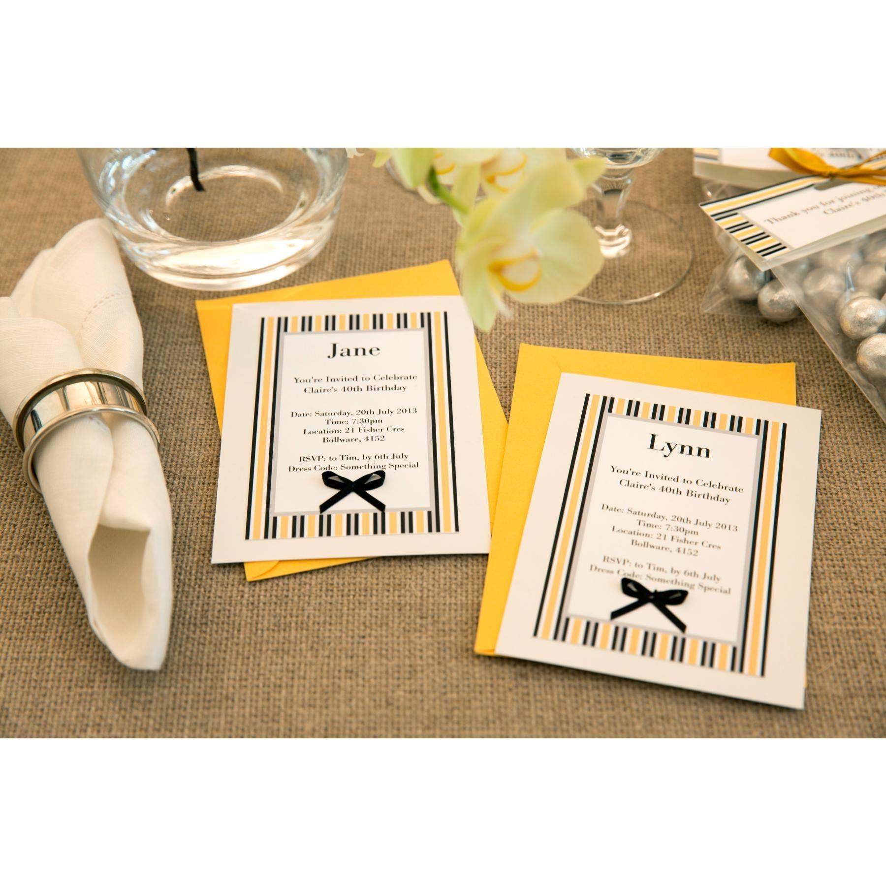 Stylish Handmade Dinner Party Invitations Using Avery Printable