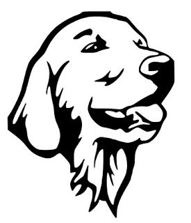 2  Labrador Retriever  Die Cut no back ground black or white  FREE SHIPPING