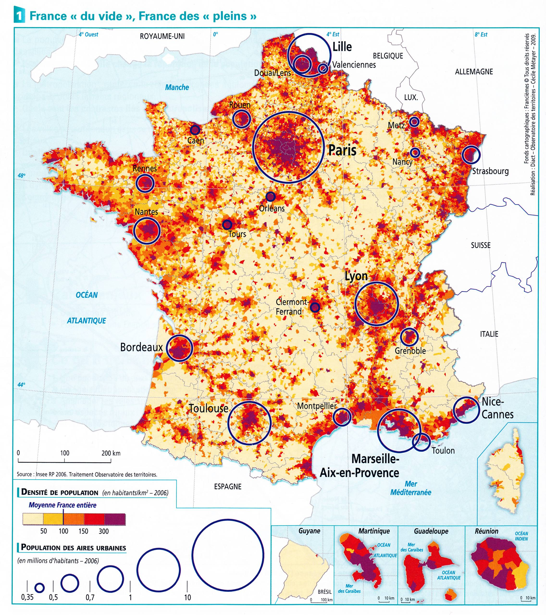 France Population Density And Cities By Cecile Metayer