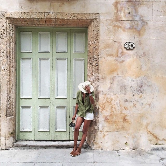 darling doors  pastel green door in Havana Cuba via sincerely jules shabby chic street style & Instagram media sincerelyjules - From our last day in Habana ...