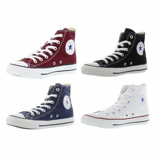 f181b9b230f15d Converse Allstar Hi Mens Womens Classic Canvas Hi Top Boots Trainers Size  4-13  DoWomensbeltAndShoesHaveToMatch
