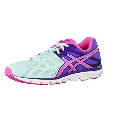 Gel-Zaraca 3- Mint/Neon Pink/Dark Purple running shoes