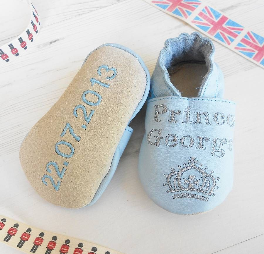 Personalised Prince Baby Shoes | Baby