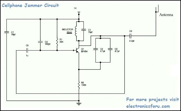 How to design and build a simple Cell Phone Jammer Circuit ...