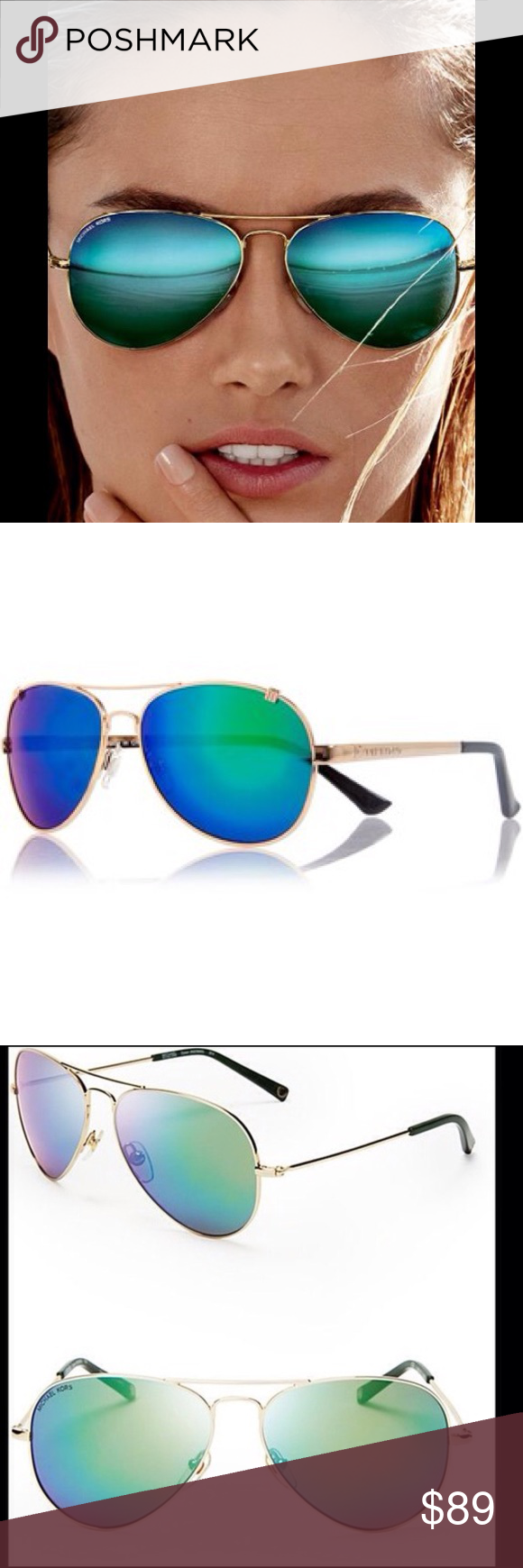 69ca19692 Michael Kors Dylan Aviator Sunglasses These are the popular MK Aviator  glasses with a high quality