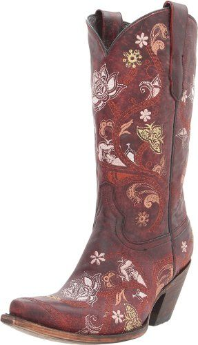 Lucchese Classics Women's M5025 Boot,Floral Red/Oklahoma Calf,7.5 B (M