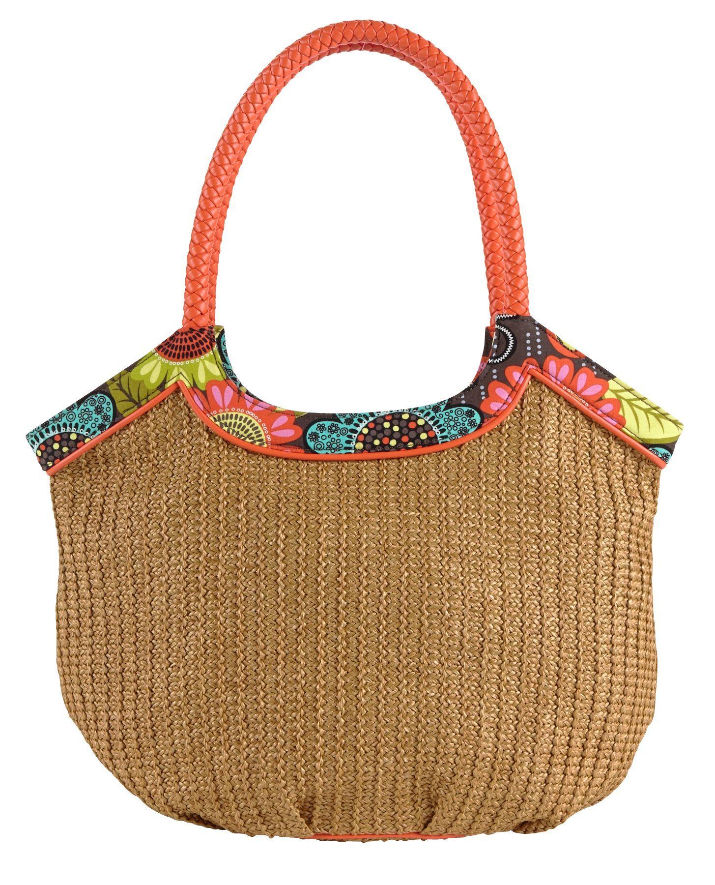Straw bucket tote in flower shower 68 vera bradley for Vera bradley bathroom bag