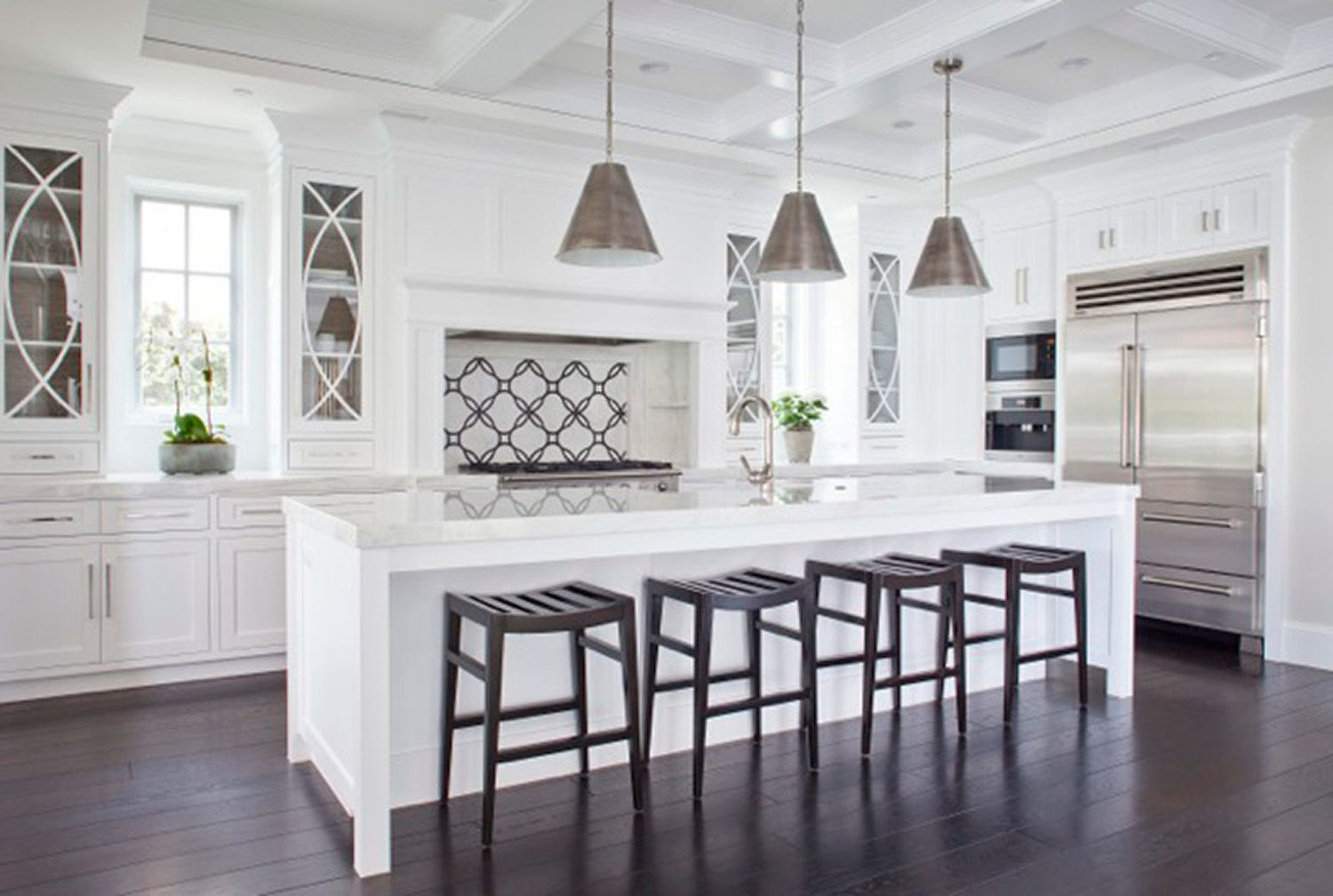 Love The Tangle Pattern Fridge In 2020 Glass Fronted Kitchen Cabinets Home Glass Cabinet Doors