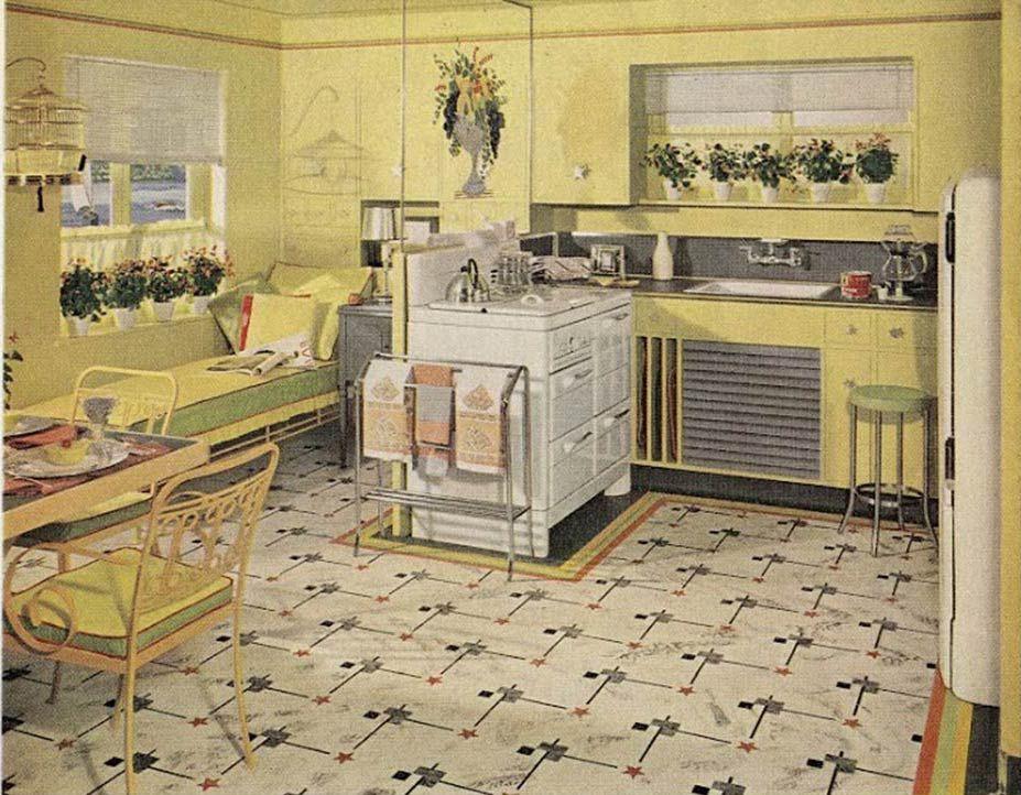 New Retro Kitchen Flooring Basic Room Layouts