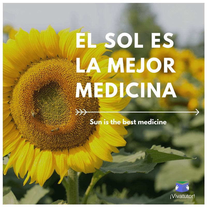 Sun Medicine Spanish Summer Sq Spanish Quotes With