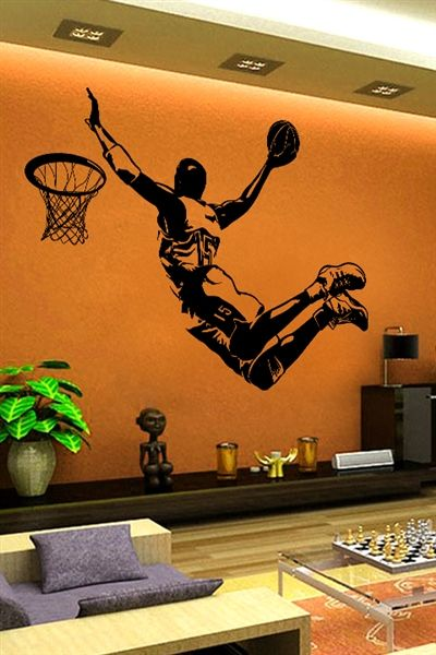 I Just Discovered Some Really Cool Wall Art Walltat It X27 S Do It Yourself Wall Decals For Basketball Wall Decals Sports Wall Decals Basketball Wall Decor