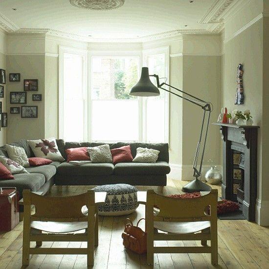 Open-plan living room | Living room decor furniture, Bay ...