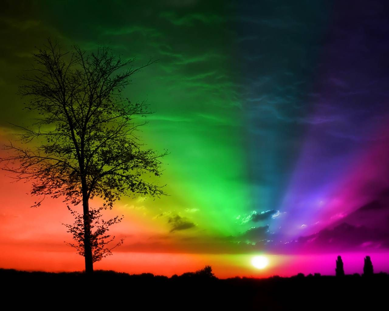 Colorful Nature Photography Hd Cool 7 Hd Wallpapers Sunset Wallpaper Rainbow Sunset Wallpaper Backgrounds
