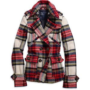 1000  images about Outerwear on Pinterest | Plaid coat Double